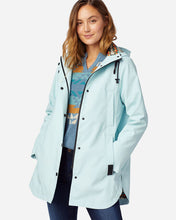 Load image into Gallery viewer, Pendleton Ice Blue Rain Slicker/Jacket at 6Whiskey six whisky Open front