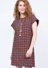 Load image into Gallery viewer, Uncle Frank Red Houndstooth Dress 6Whiskey Winter 2020