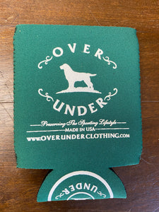 Over Under Forest Green Can Cooler/Koozie at 6Whiskey