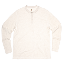 Load image into Gallery viewer, Duck Head Fall 2020 Heathered Henley in Stone 6Whiskey