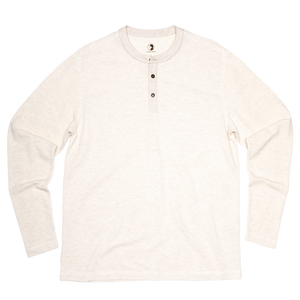 Duck Head Fall 2020 Heathered Henley in Stone 6Whiskey