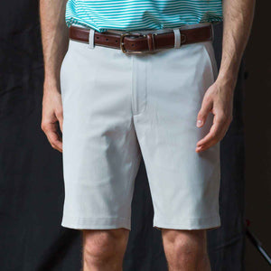 Oxford Men's Perfromance golf shorts in high rise grey 6whiskey six whisky