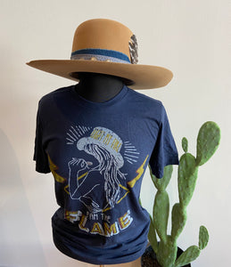 Fan the Flame Navy Graphic T-shirt 6Whiskey Fall 2020