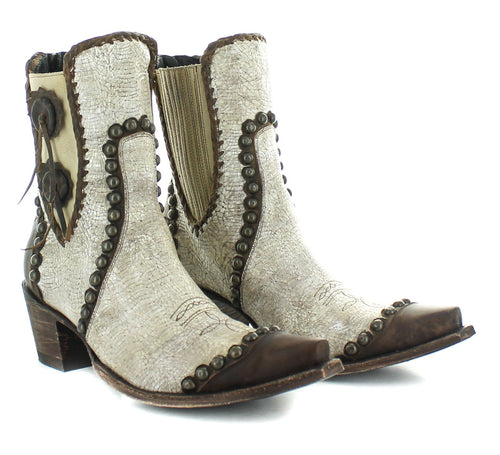 Double D Ranch Old Gringo Stockyard Boot in White 6Whiskey