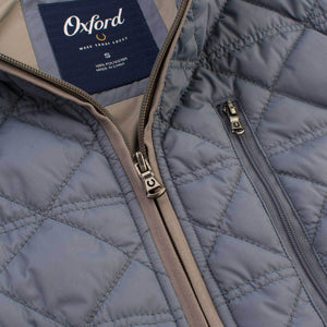 Men's Ottley Quilted Full Zip Vest in Folkstone Grey 6Whiskey by Oxford Fall