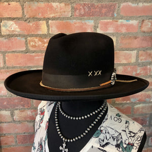 DDR Black Cody Hat 6Whiskey six whisky Greeley Hat Works