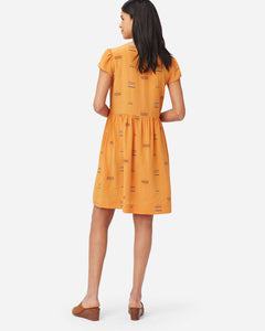 Pendleton Women's Sierra Ridge Button Front Silk Mustard Dress 6Whiskey Fall 2020