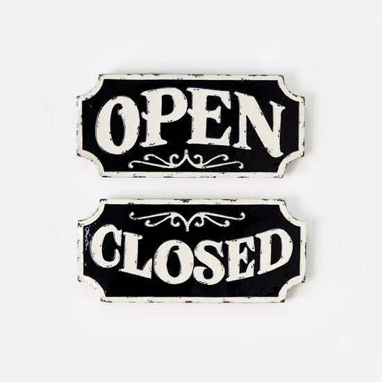 Metal Open/Closed Store Sign