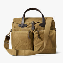 Load image into Gallery viewer, Filson briefcase at 6 Whiskey 24 hour tin cloth dark tan