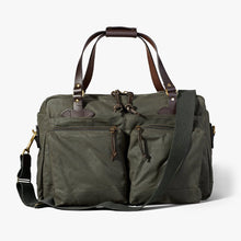 Load image into Gallery viewer, Filson 6 whiskey tin cloth otter green 48 hour duffle bag