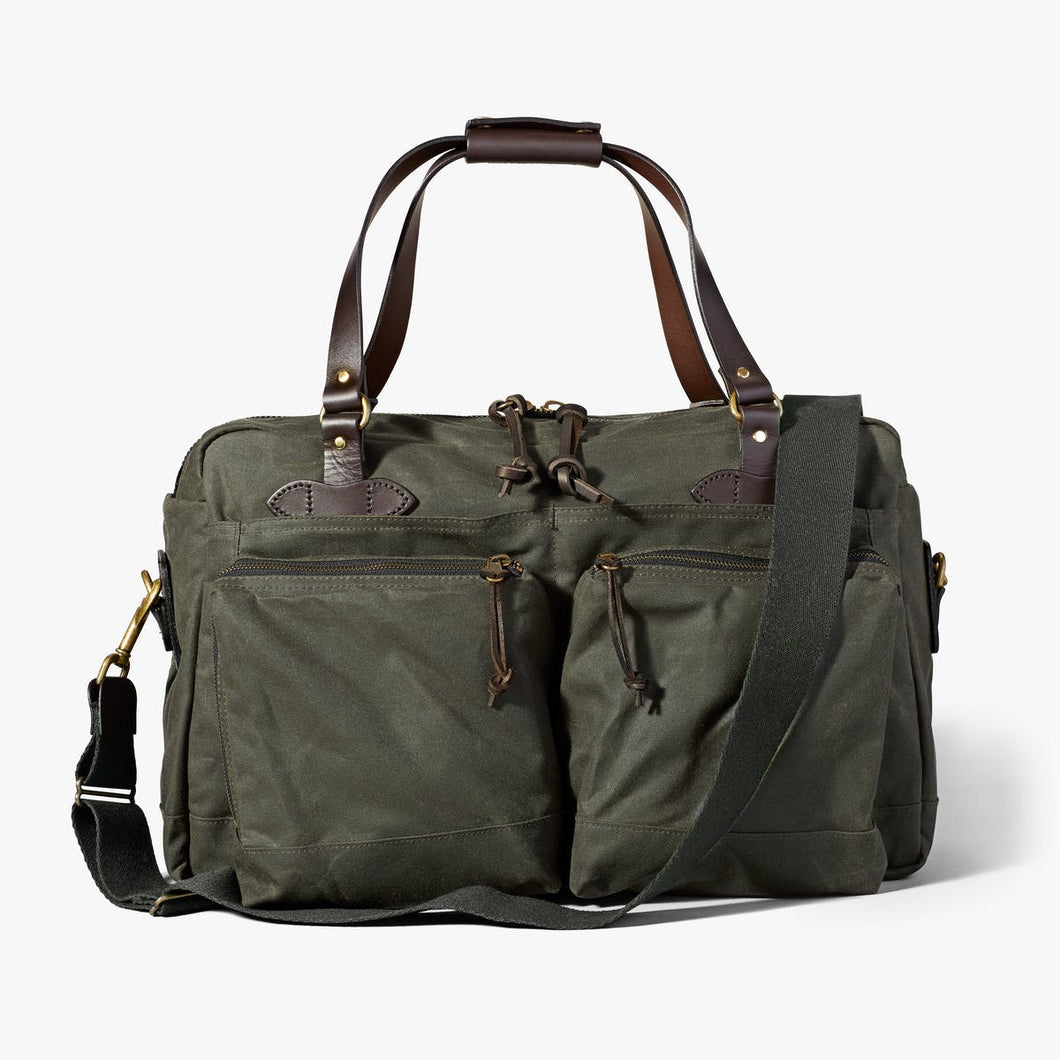 Filson 6 whiskey tin cloth otter green 48 hour duffle bag