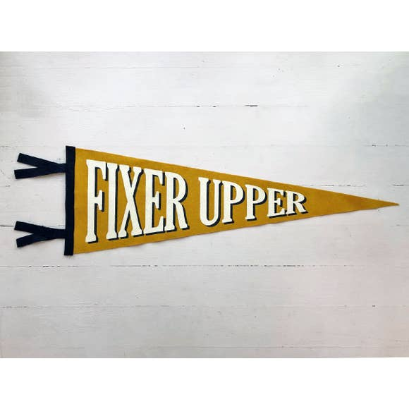 Fixer Upper Wool Felt Pennant