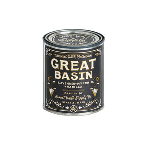 Great Basin candle National Park Collection 6 whiskey good well supply all natural six whisky wood wick soy tin