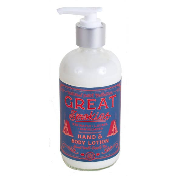 Good and Well Supply Great Smokies Hand body lotion 6 Whiskey Red Maple, Laurel and Sandalwood six whisky
