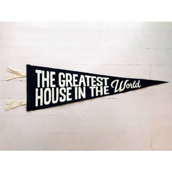 Navy Greatest House Wool Felt Pennant