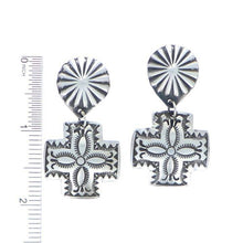 Load image into Gallery viewer, Sterling Silver Cross Earrings