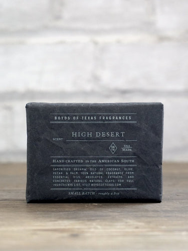 High Desert~ Texas Cleansing Charcoal Bar Soap Boyds 6 Whiskey Georgetown all natural black