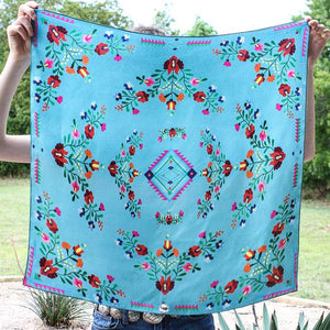Scarf ~ Turquoise Fiesta