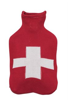 Hot Water Bottle with Cotton Knit Cover