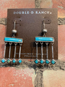 Double D Ranch Zuni Rain Dance Earrings DD Ranch 6 Whiskey six whisky