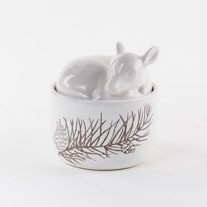 Ceramic Deer Canister