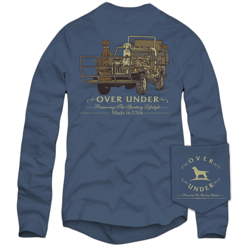 Over Under Long Sleeve T-Shirt ~ Shotgun Rider