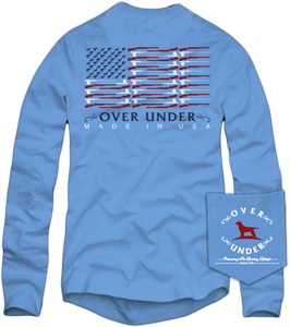 Over Under ~ Long Sleeve T-Shirt ~  Flag