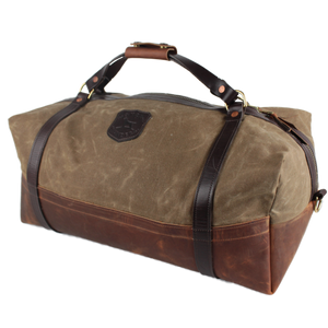 Over Under ~ Logger Duffel Bag 6 Whiskey American made six whisky Georgetown leather wax canvas