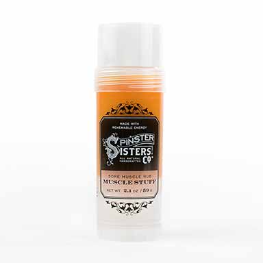 Spinster Sisters 6 whiskey muscle stuff all natural rub stick