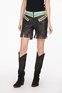 Double D Ranch Shorts, 6whiskey six whisky Leather Midnight Cowboy, DDR P441