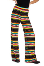 Load image into Gallery viewer, Double D Pant 6 Whiskey Serape Bakersfield Collection wide leg multi stripe P460 front view