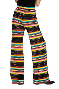 Double D stripe pant 6 whiskey serape wide leg P460 Southwest pattern Bakersfield Collection