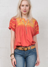 Load image into Gallery viewer, Ivy jane orange short sleeve top patty6whiskey six whisky