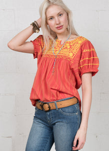 Ivy jane orange short sleeve top patty 6whiskey six whisky