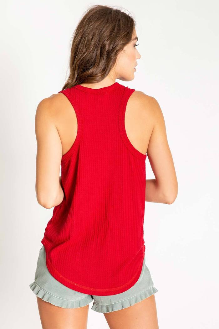 Red Bomber Tank Top