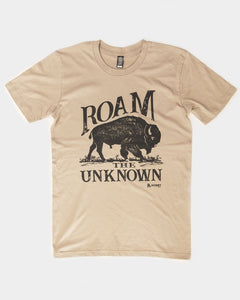 ROAM THE UNKNOWN T-SHIRT (tan)