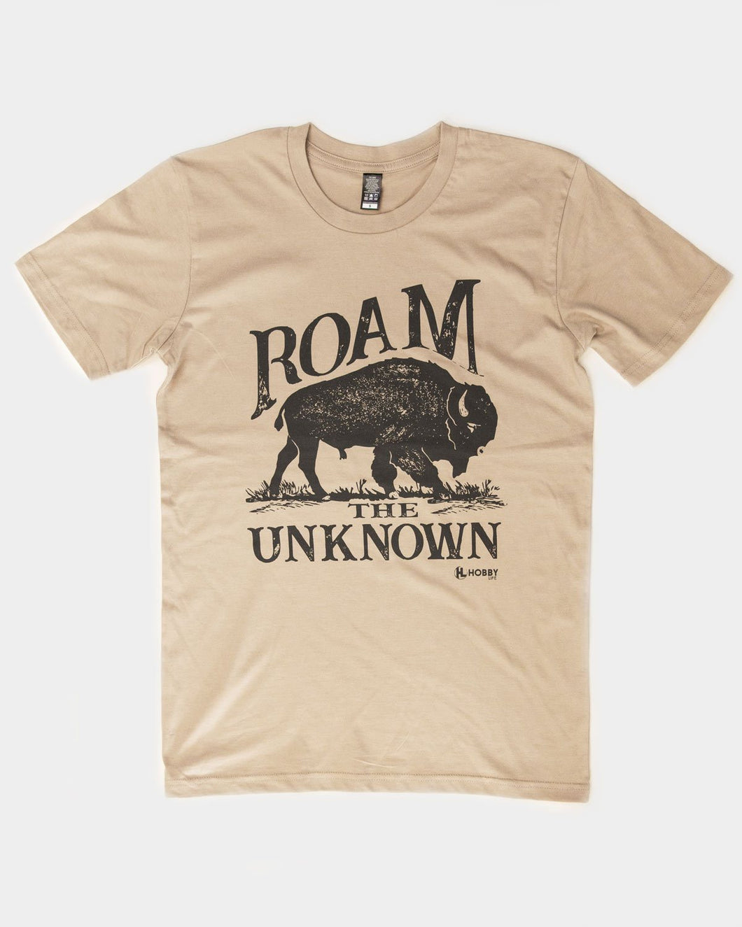 Raom the unknown buffalo bison short sleeve graphic t shirt 6 whiskey on sale