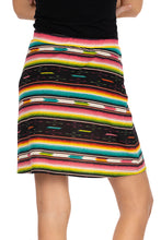 Load image into Gallery viewer, Double D Ranch 6 Whiskey Serape skirt Bakersfield multi colored stripe southwestern S1693
