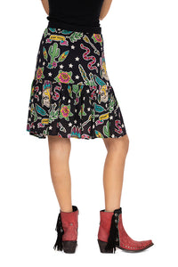 Double D 6 Whiskey Honky Tonk Cat Bakersfield Collection skirt S1695 back view