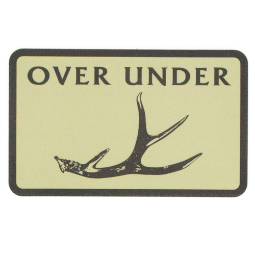 Over Under Shed Sticker 6 Whiskey Georgetown six whisky antler deer
