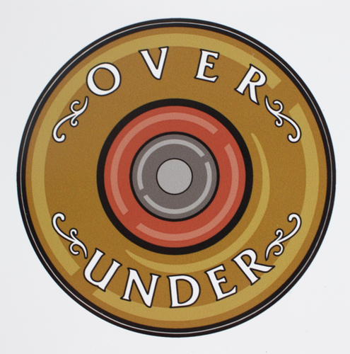 Over Under Shotgun Shell Sticker