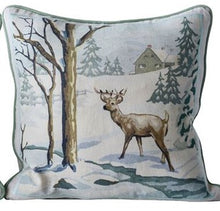 Load image into Gallery viewer, Square Cotton Pillow w/ Winter Paint By Number Image, 2 Styles