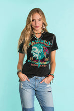 Load image into Gallery viewer, Double D Ranch Wah-hoo T-shirt in Black