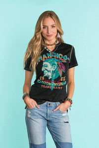 Double D Ranch Wah-hoo T-shirt in Black