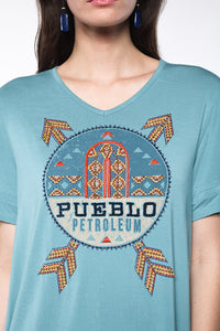 Pueblo Petroleum Top by Double D Ranch ~ T3113 dd 6 whiskey six whisky