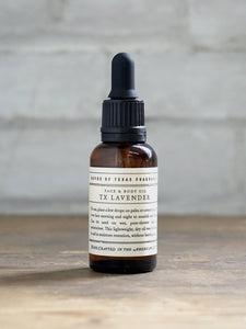 Tx Lavender Face & Body Oil ~ Boyd's of Texas 6 Whiskey all natural six whisky Georgetown