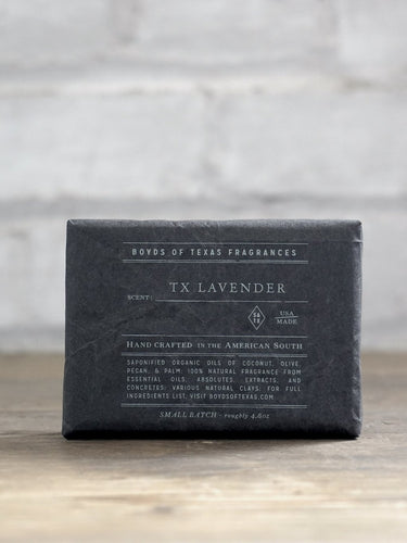 TX Lavender Cleansing Charcoal Bar Soap Boyd's Texas 6 Whiskey six whisky all natural black