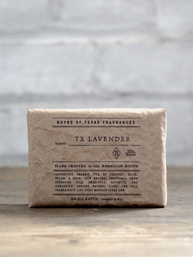 TX Lavender Moisturizing Natural Bar Soap Boyd's Texas 6 Whiskey all natural six whisky Georgetown