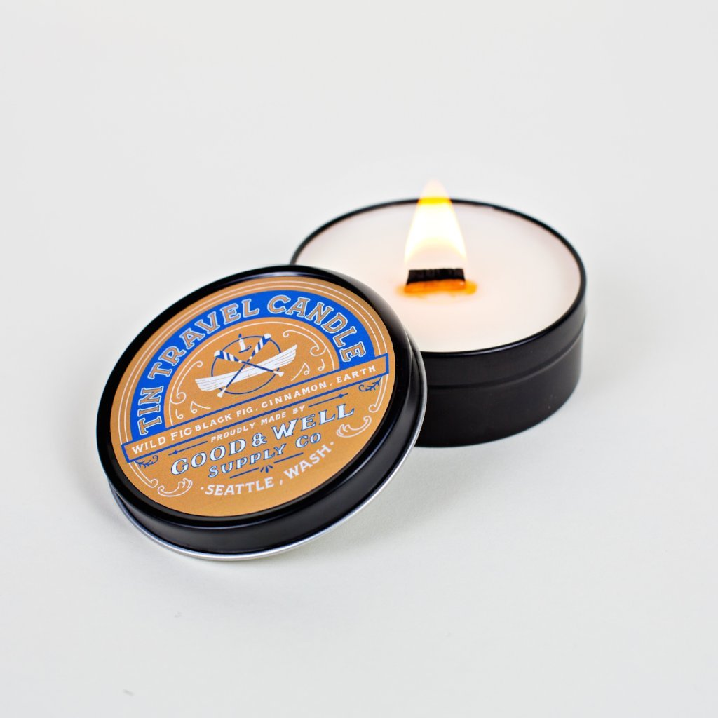 Wild Fig cinnamon travel National Park Collection 6 whiskey good well supply all natural six whisky wood wick soy tin