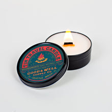 Load image into Gallery viewer, woodsmoke travel candle clove National Park Collection 6 whiskey good well supply all natural six whisky wood wick soy tin